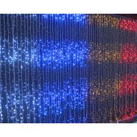 China Flat emitting 110v fairy outdoor led christmas lights curtain CE ROHS approval on sale