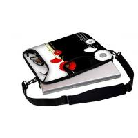 "Best 15.6"" inch Full Color Printing waterproof neoprene laptop sleeve with handle and shoulder strap wholesale"