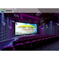 Best High Definition  Sound Vibration Cinema With Big Screen Dual Projectors wholesale