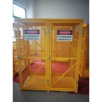 """Best 71-3/4"""" X 60"""" X 30"""" Assembled Yellow Industrial Safety Cabinets Gas Cage Cylinder Storage wholesale"""