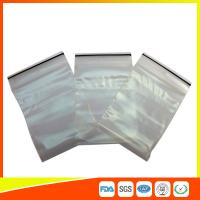 Best Transparent Strong Packing Ziplock Bags , Airtight Storage Bags Plastic LDPE wholesale