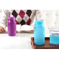 Best Blue Color 14Oz Waterproof  food grade Silicone Water Bottle with Customized Logo wholesale