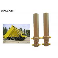 Best 3 / 4 Multi Stage Telescopic Dump Truck Lifting Hydraulic Cylinder wholesale