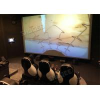 Best Professional 5D Cinema System With Large Screen , Black Leather Seats wholesale