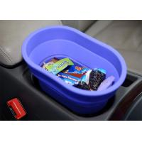 Best Flexible Food Safe Silicone Collapsible Bucket For Car , Collapsible Camping Bucket wholesale