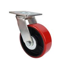 Best Heavy wheels of industrial Caster with red PU wheel wholesale