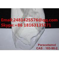China 99% Purity Paracetamol Pharmaceutical Powder Acetaminophen For Reduce Pain on sale