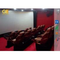 5D 7D 8D Cinema Motion Theater Seats With Rain Snow Wind Smoke Fog Effects