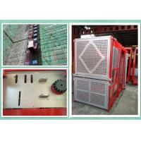 Personnel And Material Construction Hoist Twin Cage , Building Hoist Overload Protection