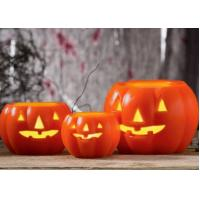 Best Led Pumpkin Candle With Yellow Light , Plastic Outdoor Pumpkin Lights wholesale