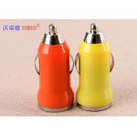 Cheap Exquisite Universal USB Car Charger For Iphone / Samsung 5V 1A Output for sale