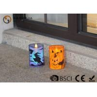 Best Lovely Halloween Flameless Candles , Led Halloween Candles 100 / 180 / 375g wholesale
