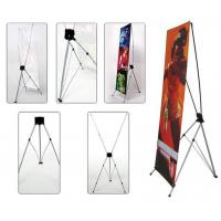 Cheap Retractable X Frame Banner Stand , Full Color Printing Trade Show Banner Stands 80*180cm for sale