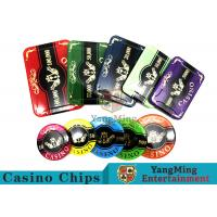 Best 760pcs Acrylic Premium Bronzing Casino Poker Chip Set For Entertainment wholesale