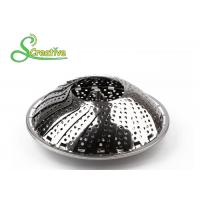 Best SS430 Collapsible Stainless Steel Steamer Basket Non Scratch For Food Cooking wholesale
