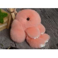 Best Rabbit Fur Round Fuzzy Ball Keyring , Cute Fluffy Keychain For Bag Pendant wholesale