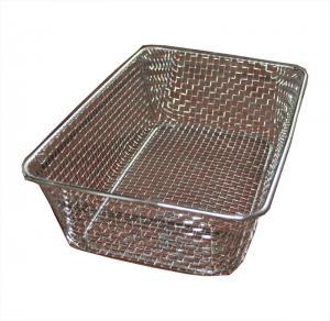 Best Food grade Woven Wire Metal Wire Basket , Stainless Steel Wire Mesh Baskets wholesale
