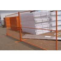 China Portable Orange Perforated Welded Wire Mesh Fencing 2 Meter Height on sale