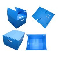 Best Blue Non - Toxic Folding Plastic Corrugated Plastic Boxes With Thickeness 2-6mm wholesale