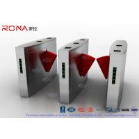 Best 3 Lanes Flap Barrier Gate Flap Automatic Swing Barrier Gate Card Collector For Biometric Access Control wholesale