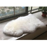 Best Handmade Washable Sheepskin Rug , Natural Shaped Sheep Throw Blanket For Baby Play wholesale