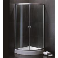Best 800 X 800 Quadrant Shower Enclosures And Tray With Magnetic Stripes Ss Sliding Handle wholesale