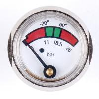 Best 1 Inch 25mm Diaphragm Pressure Gauge Fire Extinguisher With Chrome Plated wholesale