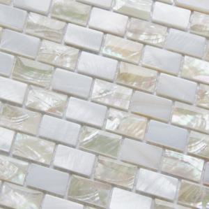 China Sea shell Mosaic Freshwater Shell Mixed White Abalone Shell Mosaic Square Pieces 10x20mm on sale