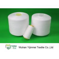 Best Dyed Color / Bleached White Spun Polyester Thread For Sewing Garment wholesale