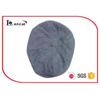 China Eight Panels Duckbill Flat Cap Nep Yarn Grey Scally Caps For Mens on sale