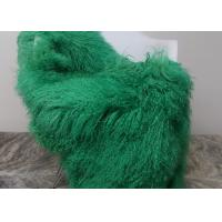 Best Luxury Soft Dyed Mongolian Sheepskin Rug For Bed Sofa Decorative Throw Blankets  wholesale