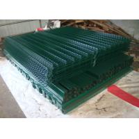 Best Green 3D Welded Mesh Fencing Fold Panel 100X200MM With Peach Post 40X70MM wholesale