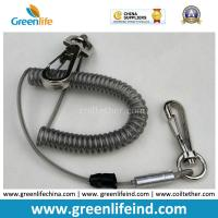 Best High Pulling Wire Core PU Coated Spiral Coiled Tool Lanyard wholesale