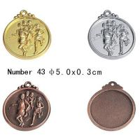 Best 4.5cm / 5cm / 6.5cm Running medal Blank Sport Medals With Engrave press Technique wholesale