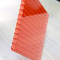 Cheap Red Color Two Wall 4mm Polycarbonate Greenhouse Panels OEM / ODM Acceptable for sale