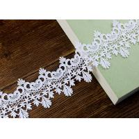 Best Floral Embroidered Chemical Poly Milk Lace Ribbon Trim Water Soluble Azo Free wholesale