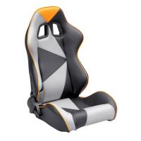 Best Adjustable Style PU / PVC Leather Racing Seat / Sports Car Seat with single slider wholesale