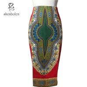 ... dress Female Batik Dress Sewn With Invisible Zipper of shenbolendress