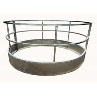 Buy cheap Galvanized Cattle Round Hay Feeder with Roof With Size 1.5X2.0Meter Have 8 Feed Place from wholesalers
