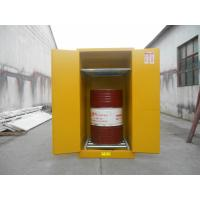 Best Vertical Oil Drum Storage Cabinets , Flammable Safety Cabinet 75 Gallon wholesale