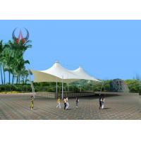 Quality Blue / White Park Shade Structures Garden Sail Awning High Transmitting Feature wholesale