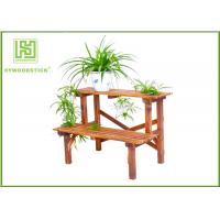 Best Standing Outdoor Durable Bamboo Flower Pots Garden Shelves For Home wholesale