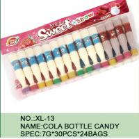 Best Sweet Straw Bottle Cola Sugar Powder Candy With Different Flavor / Color wholesale