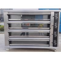 China Four Deck Four Trays Electric Baking Oven Gas Electric Deck Oven for Bread on sale