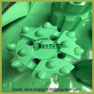 Quality T38 Thread Ballistic / Spherical Retrac Button Green Bit Mining Drill Bits wholesale