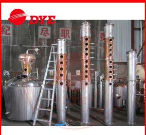 Best 1000L Moonshine Pot Still For Making Alcohol , Vodka Distillation Equipment CE wholesale