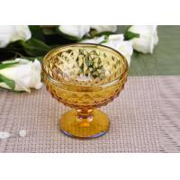 Best Yellow Stemware popular wedding glass candle holders Bowl Shape wholesale