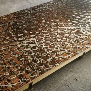 Best 2018 Steelcolor Aperam Supplier Water Ripple Pattern 1500*3000 Stainless Steel Mirror Copper Sheets In Foshan Factory wholesale
