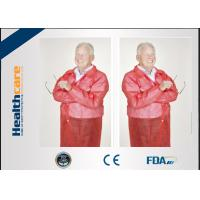 China Conformable Medical Disposable Laboratory Coats With Pocket Collar Knitted Anti - Fluid on sale