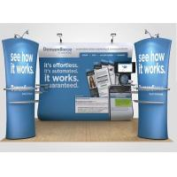 Best Blue 20ft Straight Shape Tension Fabric Displays With Dye Sublimation Printing wholesale